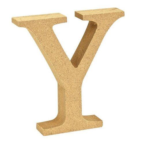 "VBS Buchstaben ""MDF"" 8 cm x 1,5 cm, Buchstabe ""Y"""