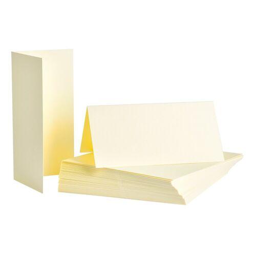 Tischkarten 50 Stück 8 x 8 cm, Creme