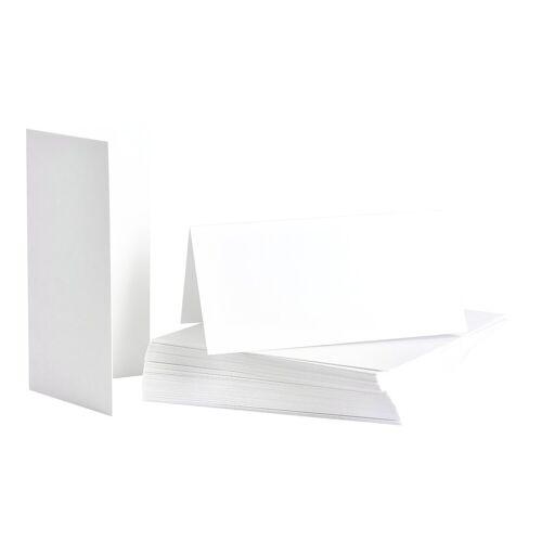 Tischkarten 50 Stück 8 x 8 cm, Weiß