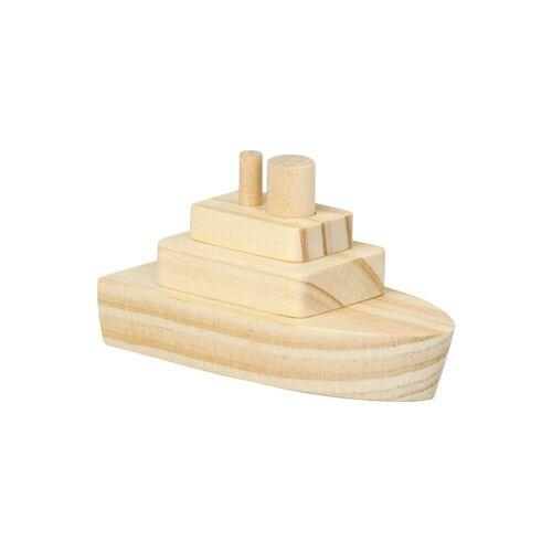 EDUPLAY Holzbausatz Dampfer, 2 Stück