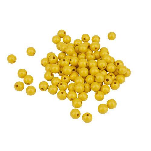 Holzperlen, Ø 8 mm, Gelb
