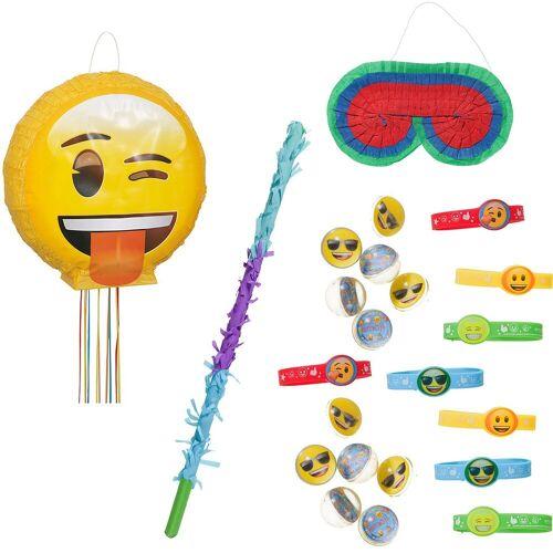Pinata-Set Emoji, 23-tlg.