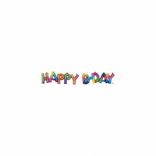 Amscan CI: Phrases Block Phrase Happy Bday Rainbow Splash Folienbal