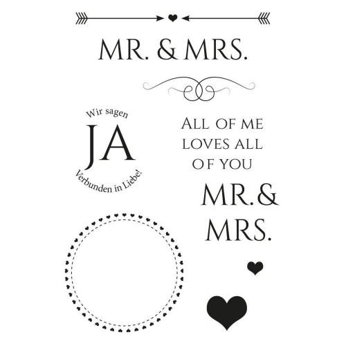 """Clear Stamps """"Mr. & Mrs."""" 9-tlg."""
