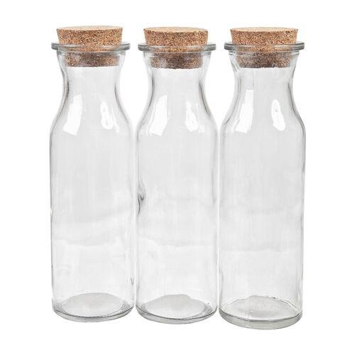"""VBS Glasflaschen """"Milk"""", 3er-Set"""