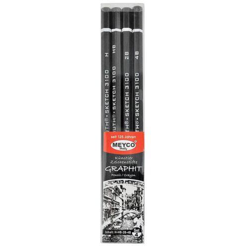 Graphit Bleistifte, 4er-Set
