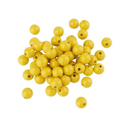 Holzperlen, Ø 10 mm, Gelb