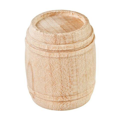 Miniatur Holzfass mit 4 Ringen