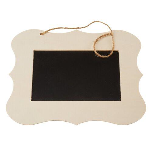 """VBS Tafel """"mit Holzrahmen"""" 20 cm x 15 cm"""