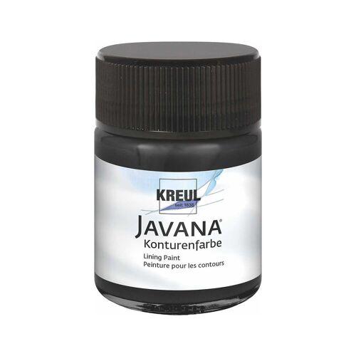 C. KREUL Javana Konturenfarbe für Seide Schwarz, 50 ml