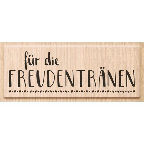 """Heyda Holzstempel """"Freudentränen"""" 91 mm x 35 mm"""