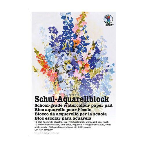 URSUS Aquarellblock A3 10 Blatt, hochweiß
