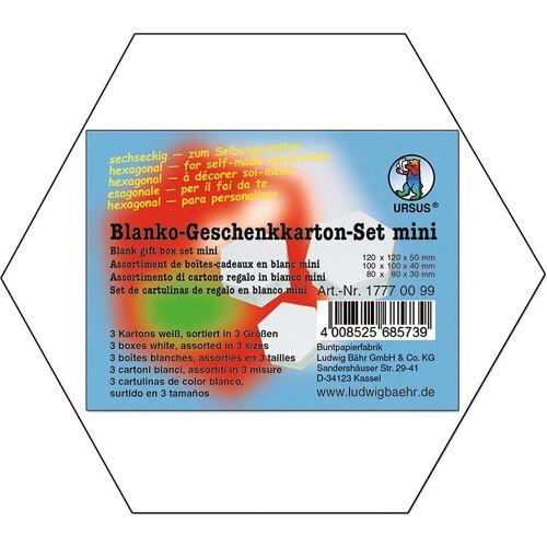URSUS Aufbewahrungsbox »Geschenkkarton 6 eckig 3er Set, weiß«