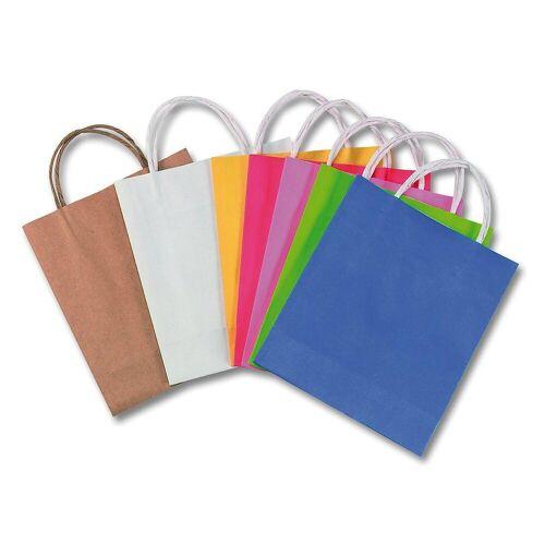 Folia Geschenkpapier »Papiertüten 18 x 21 cm farbig, 7 Stück«