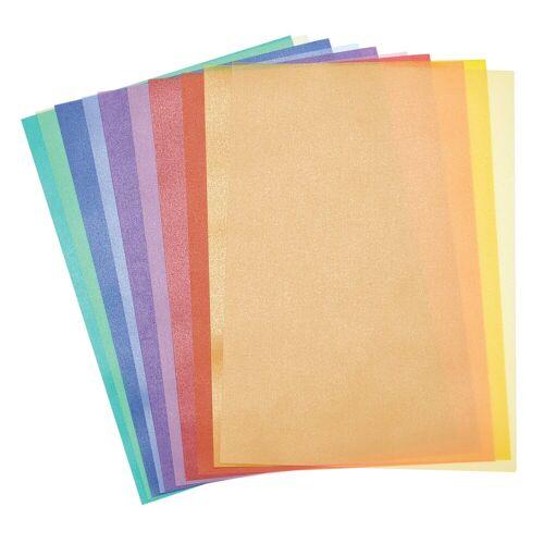 Folia Transparentpapier »Transparentpapier«, 10 Blatt, Bunt