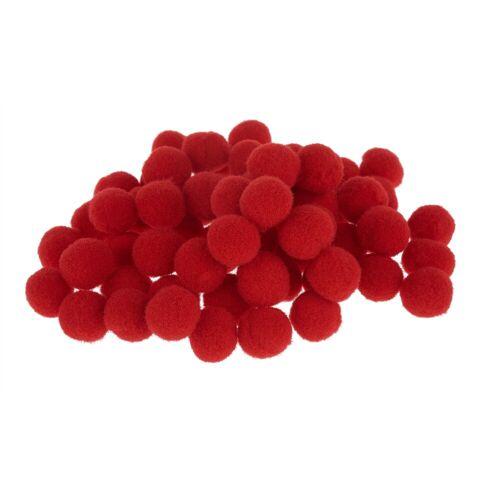 VBS Pompon, 60 Stück, Rot