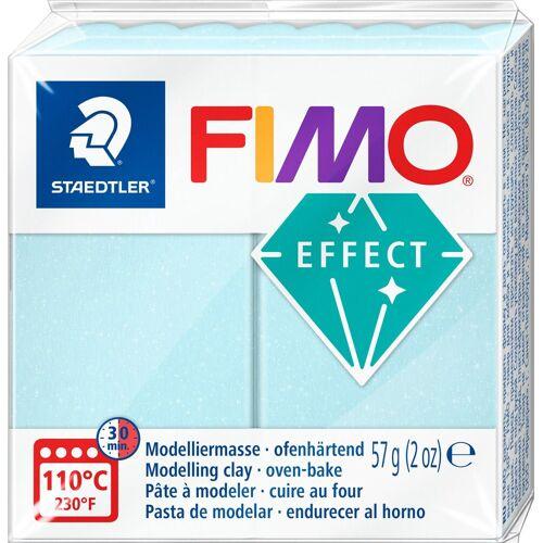FIMO Modelliermasse »Effect«, 55 mm x 55 mm x 15 mm, Eiskristallblau