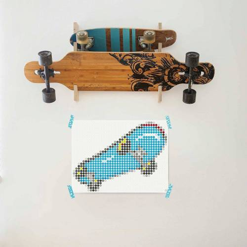 Dot On Malvorlage »art teen - skate, 30 x 40 cm«