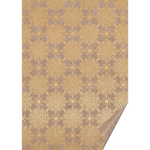 VBS Motivpapier »Naturkarton Ornamente«, 70 cm x 50 cm, Gold