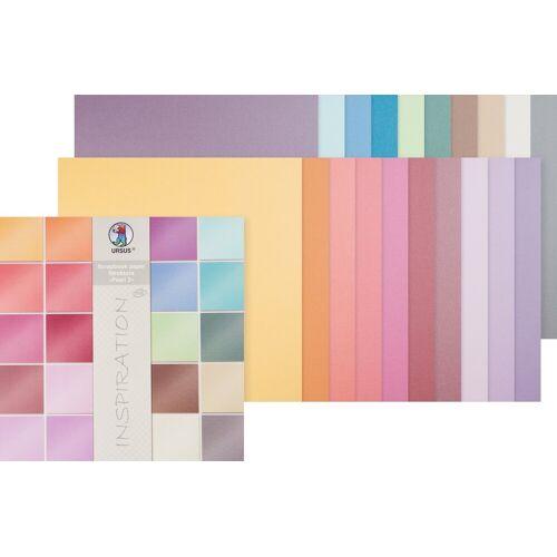 URSUS Papierkarton »Scrapbook-Block Struktura Pearl 2«, 30,5x30,5 cm, 20 Blatt