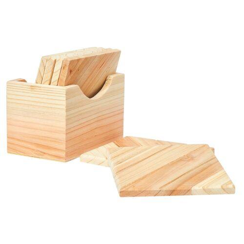 VBS Bierdeckel, Holz, 6 Stück