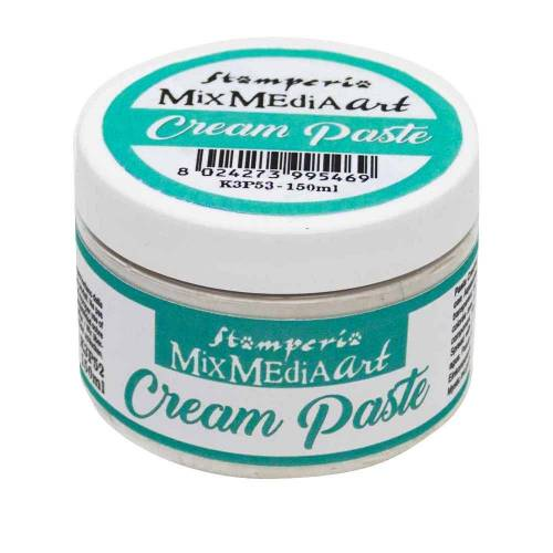 "Stamperia 3D-Strukturpaste ""Cream Paste Weiß"" 150 ml"