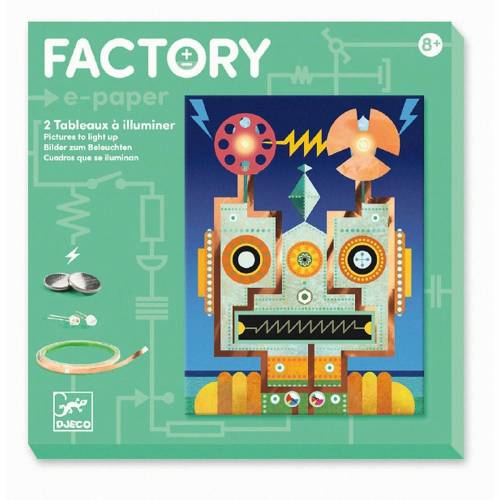 DJECO Lernspielzeug »Factory - Cyborgs«, türkis
