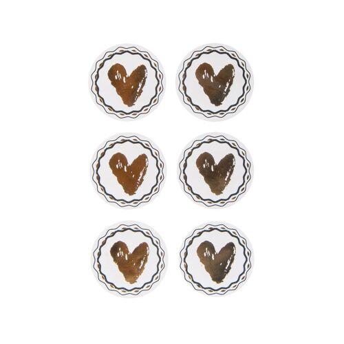 Rayher Sticker »Herz«, mit Goldfolie 24 Stück