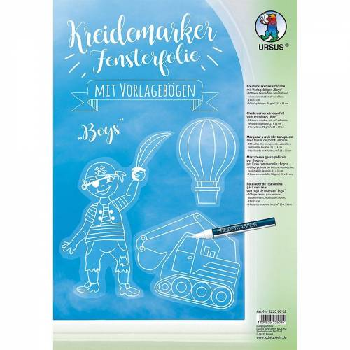 URSUS Fenstersticker »Kreidemarker Fensterfolie Boys«,