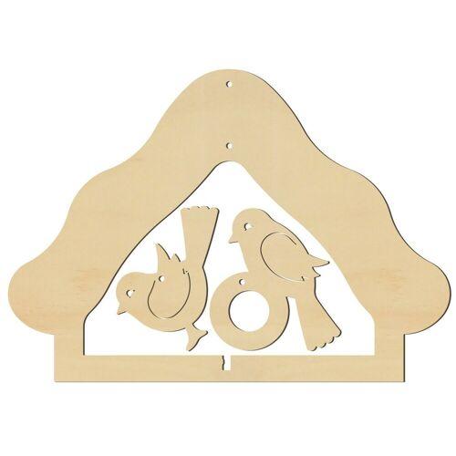 VBS Fenstersticker »Futterhäuschen«, , 17,2 cm x 12,2 cm