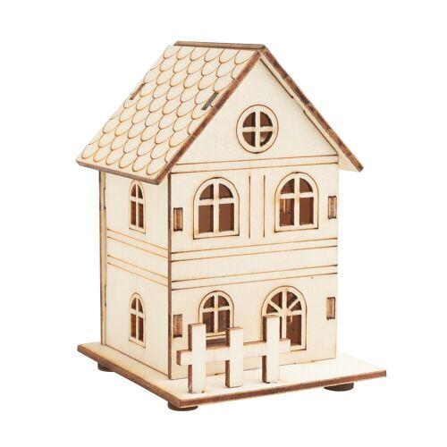 VBS Modellbausatz »Haus mit Zaun«, inkl. LED, 8 Teile