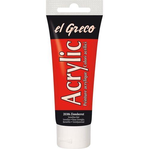 "Kreul Acrylfarbe ""el Greco Acrylic"" 75 ml, Zinnoberrot"