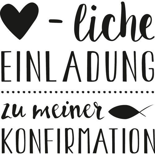 Heyda Stempel »Herzliche Einladung Konfirmation«, 5,6 cm x 6 cm