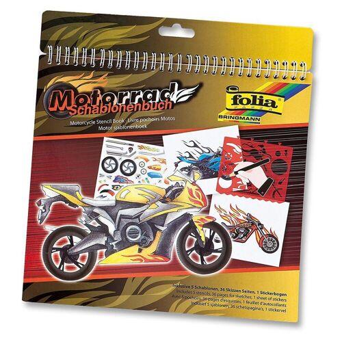 Folia Malvorlage »Schablonenbuch Motorrad, inkl. Sticker«