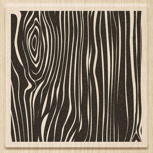 Heyda Stempel »Holzmaserung«, 8 cm x 8 cmx 2,5 cm