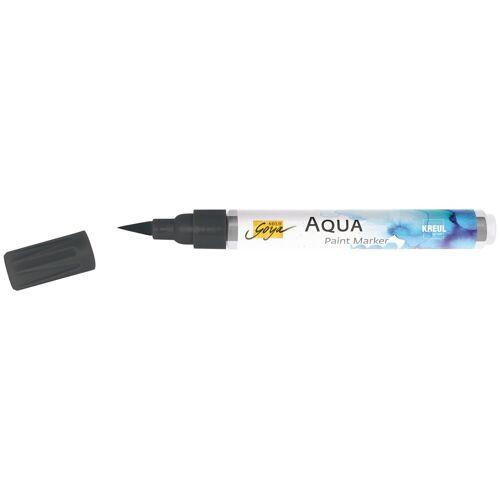 Kreul Aquarellstifte »Solo Goya Aqua Paint Marker«, Wasserbasis, Wasserverdünnbar, Schwarz