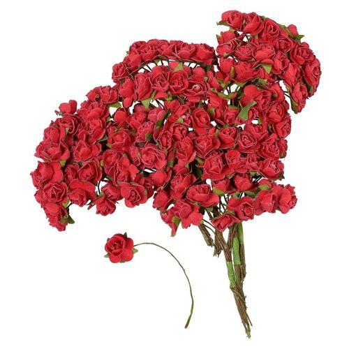 VBS Großhandelspackung Kunstblume »Papier-Röschen«, , 144 Stück, Rot