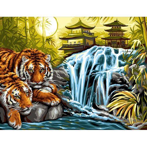VBS Malen nach Zahlen »Malen nach Zahlen Tiger am Fluss«, 38,2 x 29,2 cm