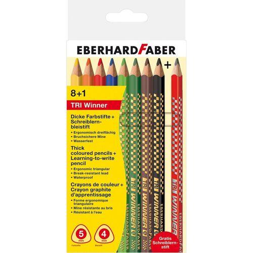 Eberhard Faber Dekorierstift »Buntstifte TRI Winner, 8 Farben+1 Schreiblernstift«