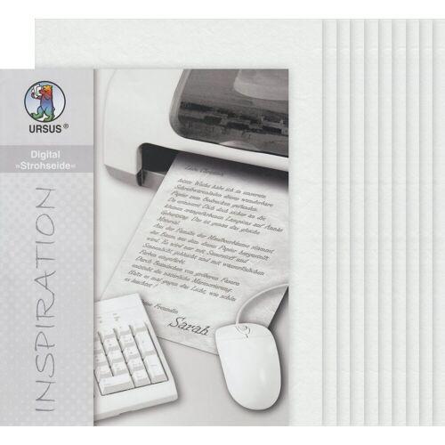 URSUS Seidenpapier »Digital«, 10 Blatt, DIN A4, Weiß