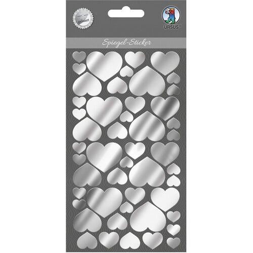 URSUS Sticker »Spiegel Sticker Herzen«