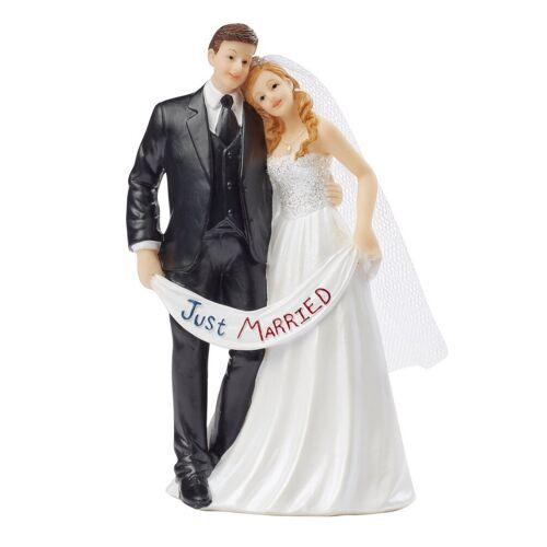 HobbyFun Dekofigur »Hochzeitspaar Just Married«, 7 cm x 5,5 cm x 13,5 cm