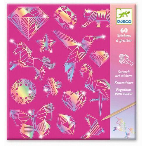 DJECO Bild »Kratzbilder - Diamant«, pink