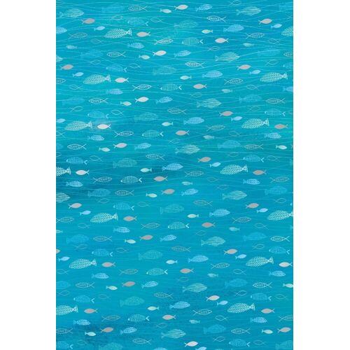 Heyda Designpapier »Hotfoil«, Fische 200 g/qm, Aquablau