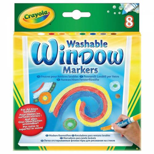 Crayola® Fenstersticker »Fenstermalstifte, 8 Farben«,