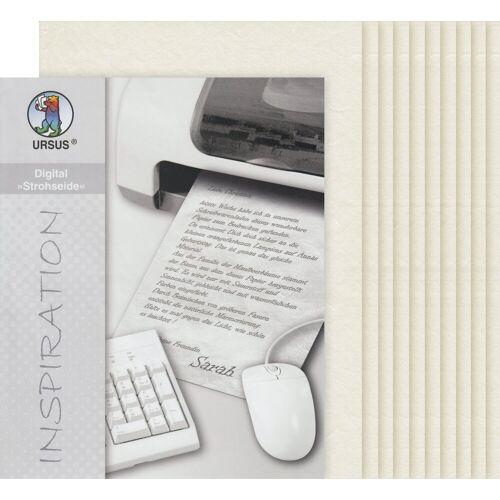 URSUS Seidenpapier »Digital«, 10 Blatt, DIN A4, Natur