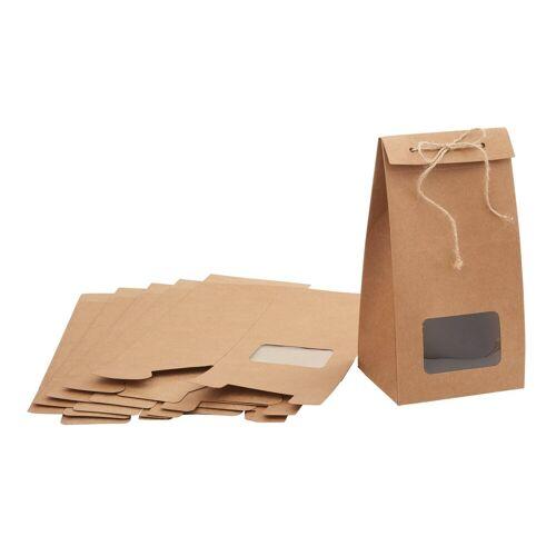 VBS Kraftpapier, mit Sichtfenster, 6 Stück