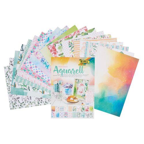 Folia Motivpapier »Aquarell«, 20 Blatt