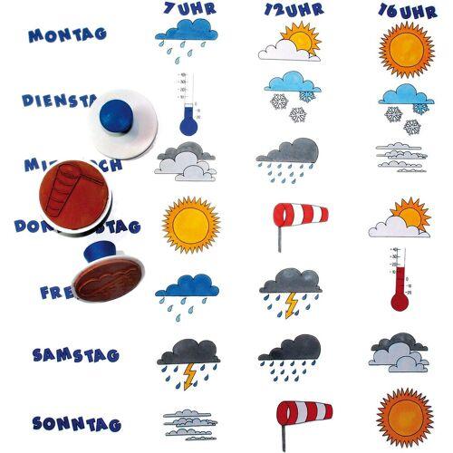EDUPLAY Stempel »Wetter-Stempel, 10 Stück«