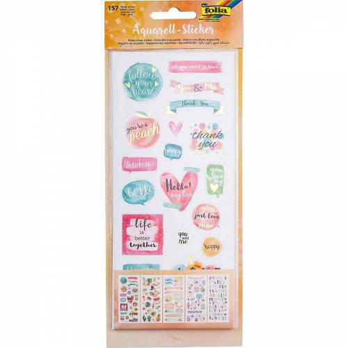 Folia Sticker »Aquarell-Sticker, 157 Sticker«